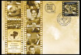 "Serbia 2019. 75 Years Of ""FILMSKE NOVOSTI"" Newsreel, Film, Movie Star, Actor, FDC - Cinéma"