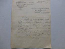 Bourg-de-Thizy 1945, J. Danière, Papeterie, Lettre Autographe  Ref 796; PAP08 - Frankreich