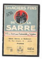 Les Aciers Fins De La Sarre - 5éme édition - Publicités