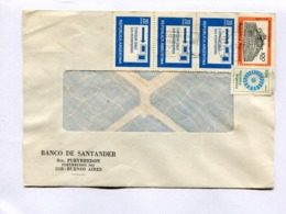 "ARGENTINA - ""BANCO DE DANTANDER"" COMMERCIAL ENVELOPPE CIRCULEE BUENOS AIRES, ANNEE 1981 -LILHU - Argentinien"