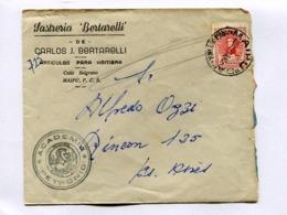 "ARGENTINA - ""SASTRERIA BERTARELLI"" COMMERCIAL ENVELOPPE CIRCULEE MAIPU A BUENOS AIRES, ANNEE 1948 -LILHU - Argentinien"