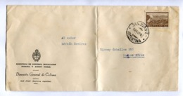 "ARGENTINA - ""MINISTERIO, DIRECCION GENERAL CULTURA"" COMMERCIAL ENVELOPPE CIRCULEE SAN JUAN A BUENOS AIRES, 1960 -LILHU - Argentinien"