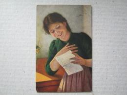 """"""" Ein Liebesbrief """",1918 . /  C. V. Bergen - Münchener Künstlerkarte No.9 - Illustrateurs & Photographes"""
