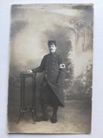 Foto Ak Militair Francais Brassard Croix Rouge Kepi Regiment 7 Cahors 1915 - Weltkrieg 1914-18