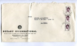 "ARGENTINA - ""ROTARY INTERNACIONAL"" COMMERCIAL ENVELOPPE CIRCULEE RANELAGH A LA PLATA, CIRCA 1970's -LILHU - Argentinien"