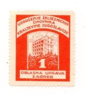 CROATIA, ZAGREB, POSTER STAMP, KINGDOM OF YUGOSLAVIA RAILWAY WORKERS ASSOCIATION - Kroatien