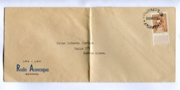 "ARGENTINA - ""RADIO ACONCAGUA"" COMMERCIAL ENVELOPPE CIRCULEE MENDOZA A BUENOS AIRES, ANNEE 1941  -LILHU - Argentinien"