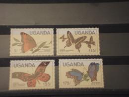 UGANDA - .1984 FARFALLE 4 VALORI - NUOVI(++) - Uganda (1962-...)