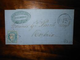 Lettre GC 3820 Saint Pol De Leon Finistere Avec Correspondance - 1849-1876: Période Classique