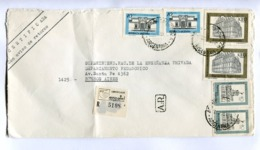 "ARGENTINA - ""BACHILLERATO AERONAUTICO E-52"" COMMERCIAL ENVELOPPE CIRCULEE MENDOZA A BUENOS AIRES, 1979 ENCOTEL -LILHU - Storia Postale"