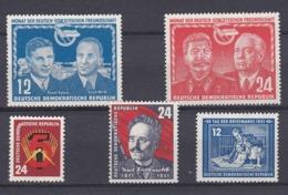 DDR Kleine Verzameling 1951 Nr 45/49 *, Zeer Mooi Lot Krt 4172 - Colecciones (sin álbumes)