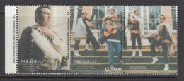 2015 Paraguay Parana Music Guitars Harps Accordion  Complete Pair + Tab MNH - Paraguay