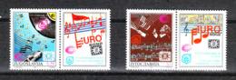Jugoslavia   - 1990. Premio Eurovisione. Complete MNH Series With Vignette - Music
