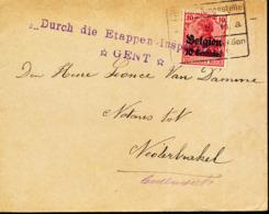 BELGIUM  WW1 COVER FROM GENT TO NEDRBRAKEL - WW I