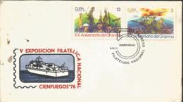 J) 1976 CARIBE, V CIENFUEGOS NATIONAL PHILATELIC EXHIBITION, BOAT, MULTIPLE STAMPS, FDC - Otros