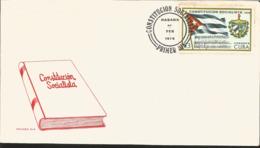 J) 1976 CARIBE, SOCIALIST COONSTITUTION, BOOK, FLAG, FDC - Otros