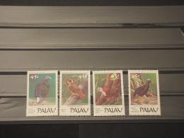 PALAU - 1989 UCCELLI 4 VALORI - NUOVI(++) - Palau
