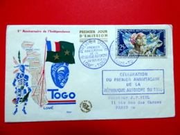 Togo - Premier Jour - PA24 - Anniversaire De La République - 28/10/1957 - Momé - Togo (1960-...)