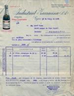 1935 , ASTURIAS , INDUSTRIAL ZARRACINA , SIDRA , CIDER , CIDRE , CHEQUE Y FACTURA ILUSTRADOS - España