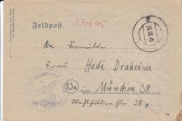 Feldpostbriefkarte Nr. 51235A Nach München - Mit Inhalt - 26.4.1945 (44468) - Lettres & Documents