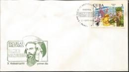 J) 1977 CARIBE, CAMILO CIENFUEGOS MILITARY SCHOOLS, FDC - Otros