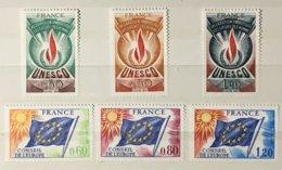 Timbres Service UNESCO Conseil De L'Europe 1975 43 à 48 (**) MNH (côte 22 Euros) – 178r - Neufs