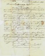 1813 NEGOCE COMMERCE TABAC  LETTRE Par MM. Minon Arthaud & Laporte à Tonneins  Pour Mr Closman (Clossmann) à Bordeaux - 1800 – 1899