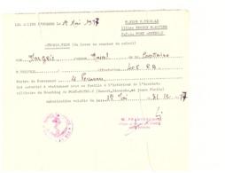 AUTORISATION A STATIONNER A L'INTERIEUR DE L'ENCEINTE DE PORT-POTHUAU 1977-III REG MARITIME-LES SALINS D'HYERES - Documents