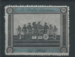 VIGNETTE PATRIOTIQUE DELANDRE - Les Belles étrennes 1916 ! - WWI WW1 Cinderella Poster Stamp 1914 1918 - Vignettes Militaires