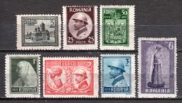 Romania 1922 Mi 286-292 MH - 1918-1948 Ferdinand, Charles II & Michael