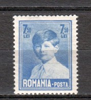 Romania 1928 Mi 327 MNH - 1918-1948 Ferdinand, Carol II. & Mihai I.