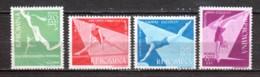 Romania 1957 Mi 1639-1642 MNH SPORTS - Unused Stamps
