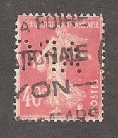 Perfin/perforé/lochung France No 194 APC (160) - France