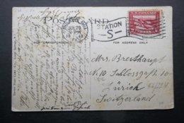 USA: 1913 PPC To Switzerland (#HU5) - United States