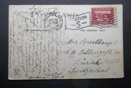 USA: 1913 PPC To Switzerland (#HU5) - Vereinigte Staaten