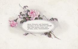 AK Rosen Mit Gedicht - Künstlerkarte -  Ca. 1910 (44479) - Blumen