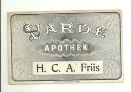 """5631 """"VARDE APOTHEK - H.C.A. FRIIS""""BUSTA  ORIGINALE - Autres"""