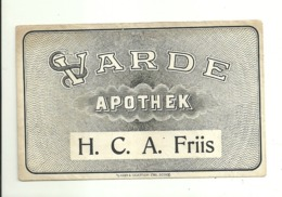 "5631 ""VARDE APOTHEK - H.C.A. FRIIS""BUSTA  ORIGINALE - Altri"