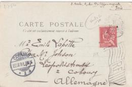 France: C.P.A : Exposition Universelle 1900- Oblitération Drapeau - Les états Unis - Cachet Coburg Allemagne - Demonstrationen