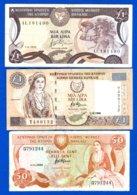 Chypre  3  Billets - Chypre