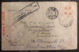1943 Zentsuji Camp Japan POW Prisoner Of War To Wollstonecraft Australia Cover - Japan
