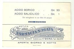 "5633 ""ANTICA FARMACIA S. AGATA-ROMA ACIDO BORICO GR.30-ACIDO SALICILICO GR.1""BUSTINA ORIGINALE - Altri"