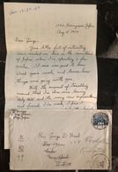 1929 Tokyo Japan Missionary Cover To Rev George Leeds New York USA Letter - Japan