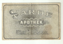 """5633/A """"VARDE APOTHEK - CHR.NIELSEN""""BUSTINA ORIGINALE - Autres"""