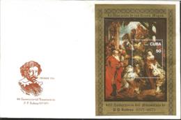 J) 1977 CARIBE, 400 BIRTH ANNIVERSARY OF PP RUBENS, PAINTING, FDC - Otros