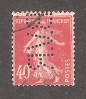 Perfin/perforé/lochung France No 194 B.V.R Blais Mousseron Lucien Villeminot - France