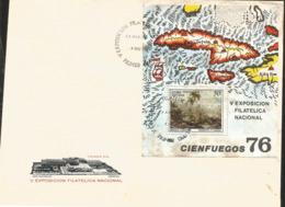 J) 1976 CARIBE, V NATIONAL PHILATELIC EXHIBITION, CIENFUEGOS, FEDERICO F CAVADA, LANDSCAPE, MAPS, FDC - Otros