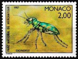 Timbre-poste Gommé Neuf** - Faune Insectes Du Parc National Du Mercantour Cicindèle - N° 1569 (Yvert) - Monaco 1987 - Monaco