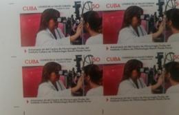 O) 2018 CUBA - CARIBBEAN, IMPERFORATED, MEDICINE - OFTALMOLOGY -HEALTH ACHIEVEMENTS -MICROSURGERY -OPHTHALMOLOGICAL INS - Sin Dentar, Pruebas De Impresión Y Variedades