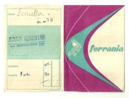 """5637 """"PORTANEGATIVI FOTOGRAFICI-FERRANIA-FOTO GUGLIELMI-BORDIGHERA"""" ORIGINALE - Supplies And Equipment"""